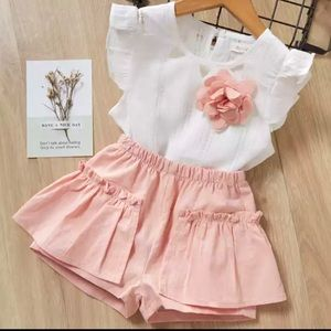 Toddler girls shorts outfit